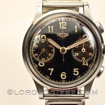 Heuer – Ref.347 Chronograph Original Black Glossy  Dial –...