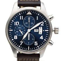 IWC Pilot Chronograph folosit 43mm Albastru Cronograf Piele