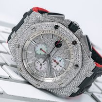Audemars Piguet Royal Oak Offshore Chronograph Steel 42mm Silver No numerals