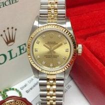 Rolex Oyster Perpetual 26 Aço Ouro Sem números