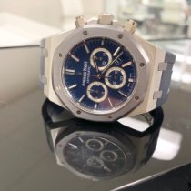 Audemars Piguet Royal Oak Chronograph Platyna 41mm Niebieski Bez cyfr