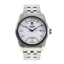 Tudor Glamour Date-Day pre-owned 39mm White Steel