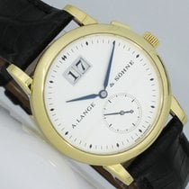 A. Lange & Söhne Saxonia Yellow gold 34mm Silver (solid) Arabic numerals