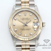 Rolex Datejust Χρυσός / Ατσάλι 31mm Σαμπανιζέ χρώμα Xωρίς ψηφία