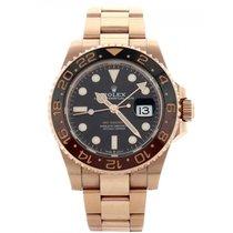 ロレックス GMT マスター 中古 40mm ブラック 日付表示 グリニッジ標準時 (GMT) ピンクゴールド