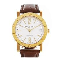 Bulgari Yellow gold Automatic White No numerals 33mm pre-owned Bulgari