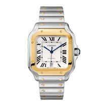 Cartier new Automatic 39.8mm Gold/Steel Sapphire crystal