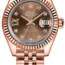 Rolex Lady Datejust 28mm Everose Gold 279175 Chocolate 17...
