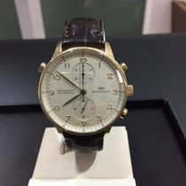 IWC Portoghese Chrono Rattrapante  Rose Gold  Ref  IW3712