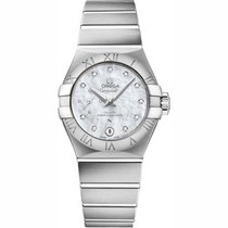 Omega Constellation Petite Seconde Steel 27mm Mother of pearl Roman numerals