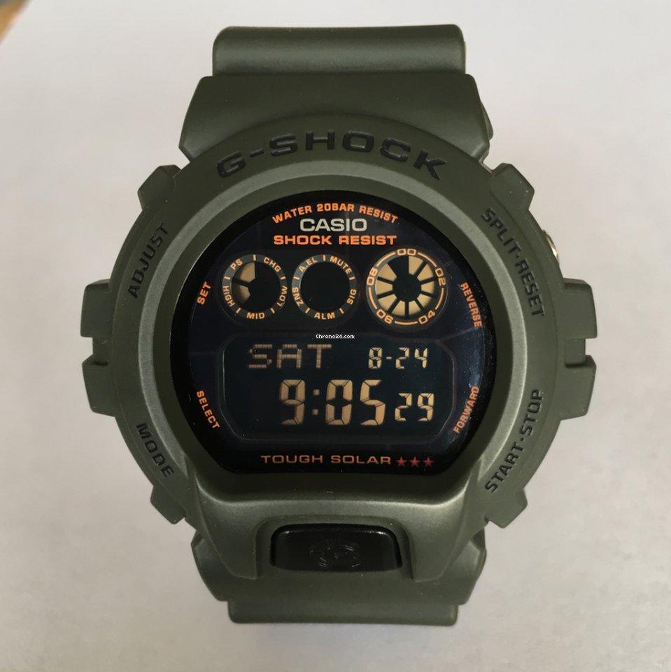 G Shock Casio Green Tough Military 6900kg 3dr Solar 80wvmNOn