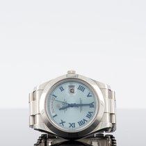 Rolex Day-Date 40 Platinum 40mm Blue Roman numerals UAE, dubai