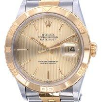 Rolex Datejust Turn-O-Graph Goud/Staal 36mm Champagne Geen cijfers Nederland, Katwijk aan zee
