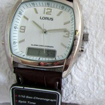 Lorus Steel Quartz Silver Arabic numerals 38mm pre-owned