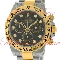 Rolex Cosmograph Daytona, Black Diamond Dial - Yellow Gold...
