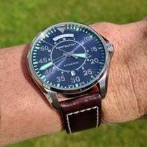 Hamilton Khaki Pilot Day Date Steel 42mm Blue Arabic numerals