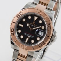 Rolex Yachtmaster BLACK DIAL  Rolesor Everrose perfect condition