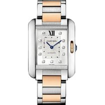 Cartier WT100025 Tank Anglaise Two-Tone Medium - Steel and...