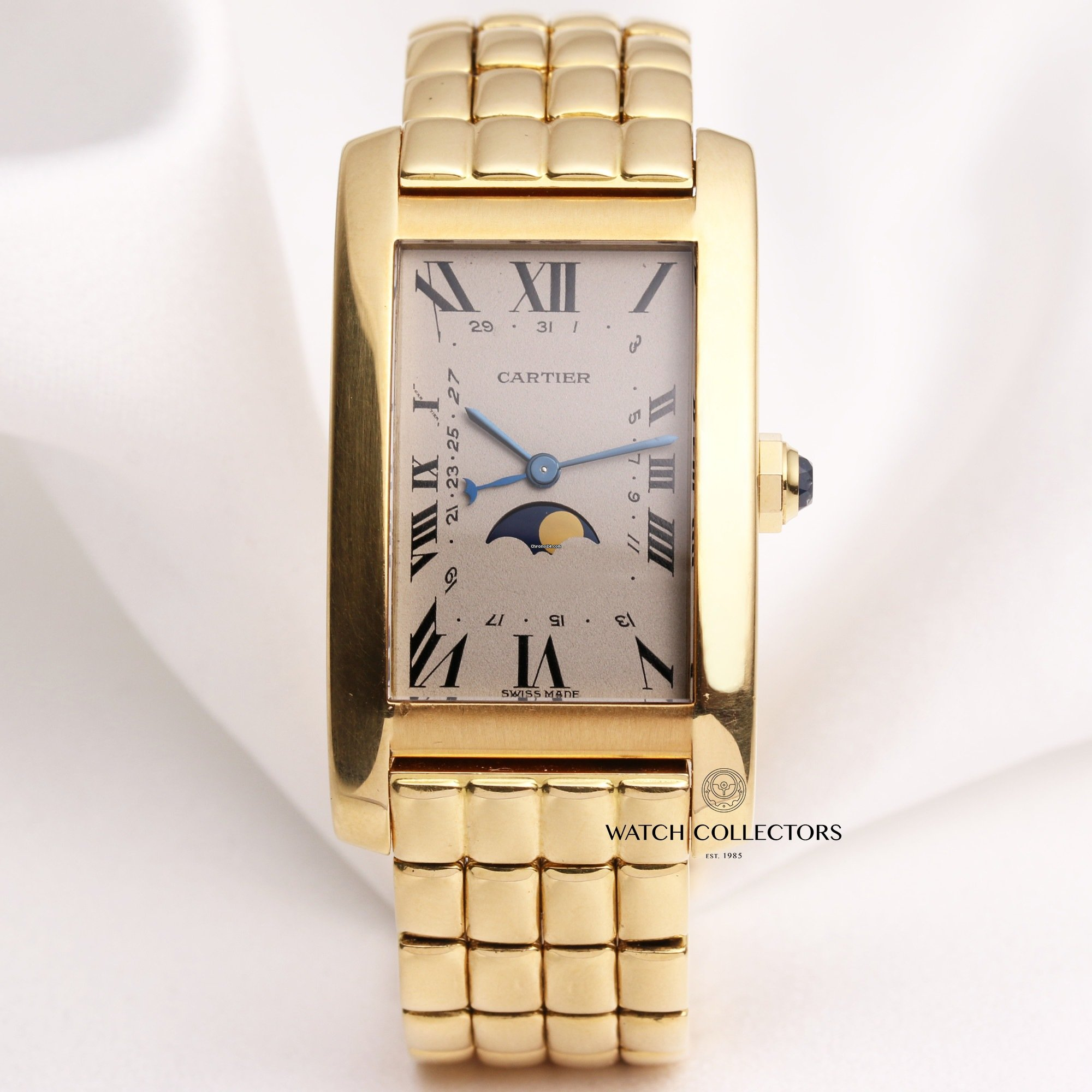 5f2401f6ea Cartier Tank Americaine Moon Phase 18K Yellow Gold for £5