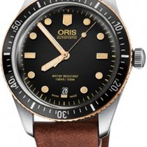 Oris Steel Automatic Black 40mm new Divers Sixty Five