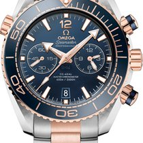 Omega Seamaster Planet Ocean Chronograph Gold/Steel 45.5mm Blue