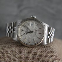 Rolex 16014 Quickset Datejust with stunning Linen dial