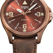 Traser Bronce 45mm Automático P67 Officer Pro Automatic Bronze Brown, Lederband nuevo