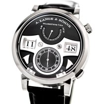 A. Lange & Söhne White gold Manual winding Black Arabic numerals 44.2mm pre-owned Zeitwerk