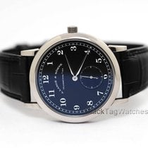 A. Lange & Söhne White gold Manual winding Black 35.9mm pre-owned 1815