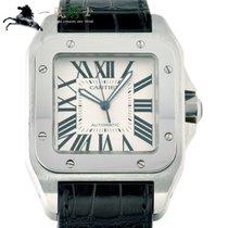 Cartier Santos 100 Stål 51mm Hvit