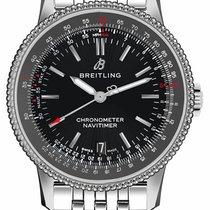 Breitling Navitimer Steel 38mm Black No numerals