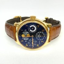 IWC Yellow gold Automatic Black Arabic numerals pre-owned Portuguese Perpetual Calendar