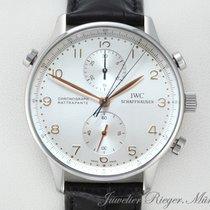 IWC Portugieser Chronograph Stahl 41mm Silber Arabisch Deutschland, München