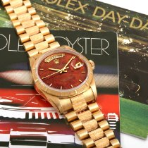 Rolex Day-Date Or jaune 36mm Brun