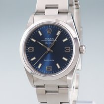 Rolex Air King Precision Steel 34mm Blue