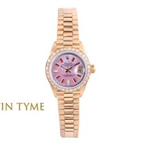 Rolex Lady-Datejust pre-owned 26mm Mother of pearl Date Yellow gold