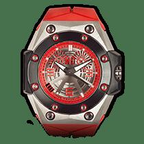 Linde Werdelin Oktopus Double Date Titanium - Red