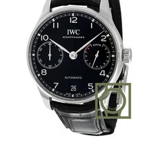 IWC Portugieser Automatic Black Dial 168 Hours Power Reserve NEW