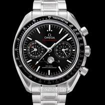 Omega Speedmaster Moonwatch Moonphase Chronograph Black Steel...
