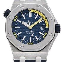Audemars Piguet Royal Oak Offshore Diver Stahl 42mm Blau Keine Ziffern