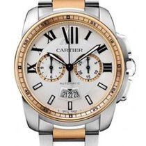 Cartier Calibre de Cartier Chronograph neu 42mm Gold/Stahl