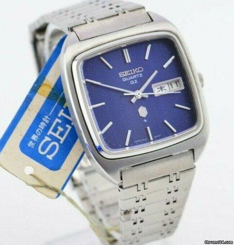 Seiko 1970s QZ Blue Dial Quartz Watch Dead Stock 0923-5000