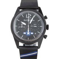 Bell & Ross Vintage pre-owned 41mm Black Chronograph Date Rubber