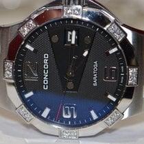 Concord new Quartz Luminous hands Screw-Down Crown Luminous indices 35mm Steel Sapphire crystal