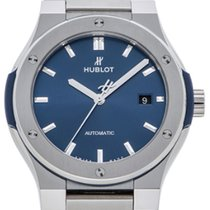 Hublot Classic Fusion Blue Dial 42MM Titanium Automatic Men...
