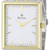 Bulova Men's Classic Two-Tone Tank Watch 98A115