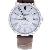 Baume & Mercier Classima Mother Of Pearl Dial Diamond Bezel...