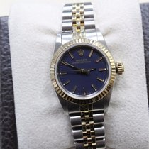 Rolex 67193 Ladies Purple Oyster Perpetual 18k Yellow Gold &...