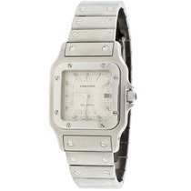 Cartier Santos Galbee Large Date Silver Roman Automatic 29MM...