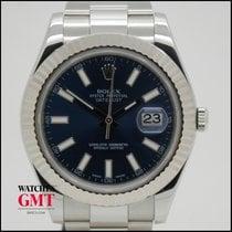 Rolex Datejust II White Gold Bezel & Blue Dial